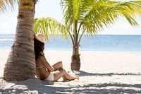 Woman beach summer.