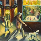 Up and Down the City Road 2006 Lucile Montague b.1950 British Acrylic on canvas