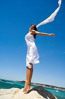 Woman dress sea.