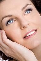Woman blue make_up
