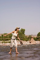 Woman river Morocco