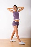 Woman gym step