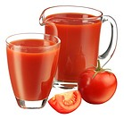 Glass And Jug Of Tomato Juice Cut Out