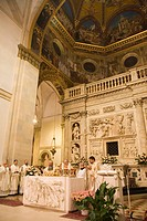 europe, italy, marche, loreto, sanctuary of the holy house, holy mess, celebrations of the holy easter