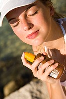 Woman sunscreen cream