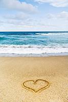 Heart in Sand on Beach