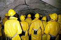 People visiting a mine
