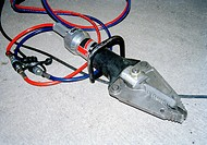 Hydraulic Rescue Tool used for prying open doors