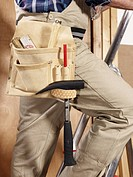 Midsection of a manual worker