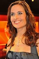 Sandra Studer, Swiss, celebrity, celebrities, portrait, indoor, indoors, smiling, female, woman, Switzerland, Swiss television personality, host, sing...