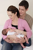 Couple with a baby