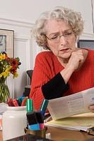 Senior woman desk