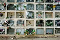 The Cementiri del Sud-Ouest cemetery in Barcelona in Spain
