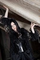 young woman in gothic style
