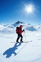 A skier in Norway