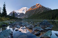 Mount Edith Cavell, Cavell Lake, Jasper National Park, Alberta, Canada