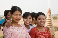 Bagan,Myanmar,Group of school children
