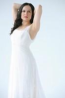 Woman wearing flowing dress