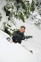 Having fun in the snow