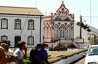 Tempel of the holy Spirit in Sao Sebastiao, Terceira Island, Azores, Portugal