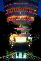 Illuminated view platform in Chongqing, China, Asia