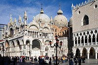 St Mark´s Square, Piazza San Marco, with Basilica San Marco and Doges Palace, Palazzo Ducale, Venice, Italy, Europe