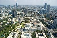 Aerial photograph of Ha´Kamery theater in Tel Aviv