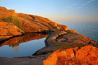 Granite Georgian Bay shoreline near sunset
