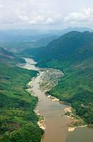 The Mekong from above, Luang Prabang region, Laos