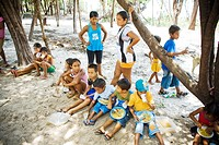 Children Eating, Terra Preta Community, Iranduba, Amazonas, Brazil