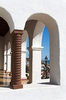 Colums of Casa Romantica Cultural Center, San Clemente, Orange County, California, USA