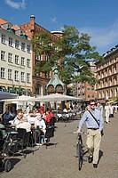 Kultorvet, Copenhagen, Denmark, Streetscape and cafe life