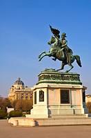 Statue of archduke Karl in Heldenplatz in central Vienna Austria EU