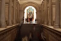 United States, New York City, Manhattan, Metropolitan Museum of Art, stairs going to European Paintings department