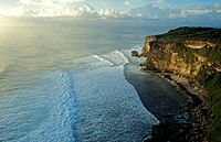 Indonesia, Bali, cliffs at Ulu Watu