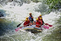 France, Aude, Reberty and Saint Georges Gorges, down river in rafting