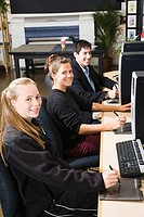 Students in a computer class