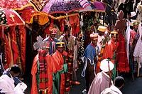 Ethiopia, Gondar, the celebration of Timkat Epiphany
