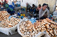 Ethiopia, Harar, town listed as World Heritage by UNESCO, the Christian market, the Shoa door
