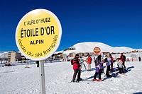 France, Isère, L´Alpe d´Huez, ski resort, French Ski School ESF