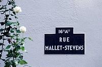France, Paris, rue Mallet Stevens