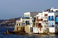 Greece, The Cyclades, Mykonos island, Chora village