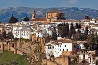 Spain, Andalusia, white village of Ronda, Santa Maria la Mayor Church