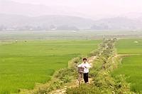Vietnam, Black Thals village near Bin Lu