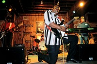 United States, Mississippi, Clarksdale, bluesman Big T at Ground Zero Blues Bar