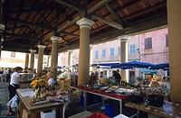 France, Haute Corse, Ile Rousse, covered market