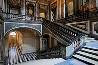 France, Yvelines, Chateau de Versailles, listed as World Heritage by UNESCO, the Queen´s staircase