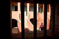 Senegal, Goree Island listed as World Heritage by UNESCO, the house of Slaves dating from 1786 and built by the Dutch, it is the last slavery in Goree