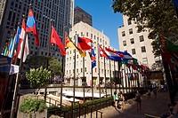 United States, New York, Manhattan, Midtown, Rockefeller Center and Rockfeller Plazza