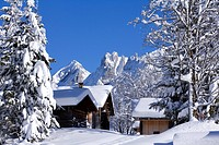 France, Haute_savoie, La Clusaz, theAravis mountain range
